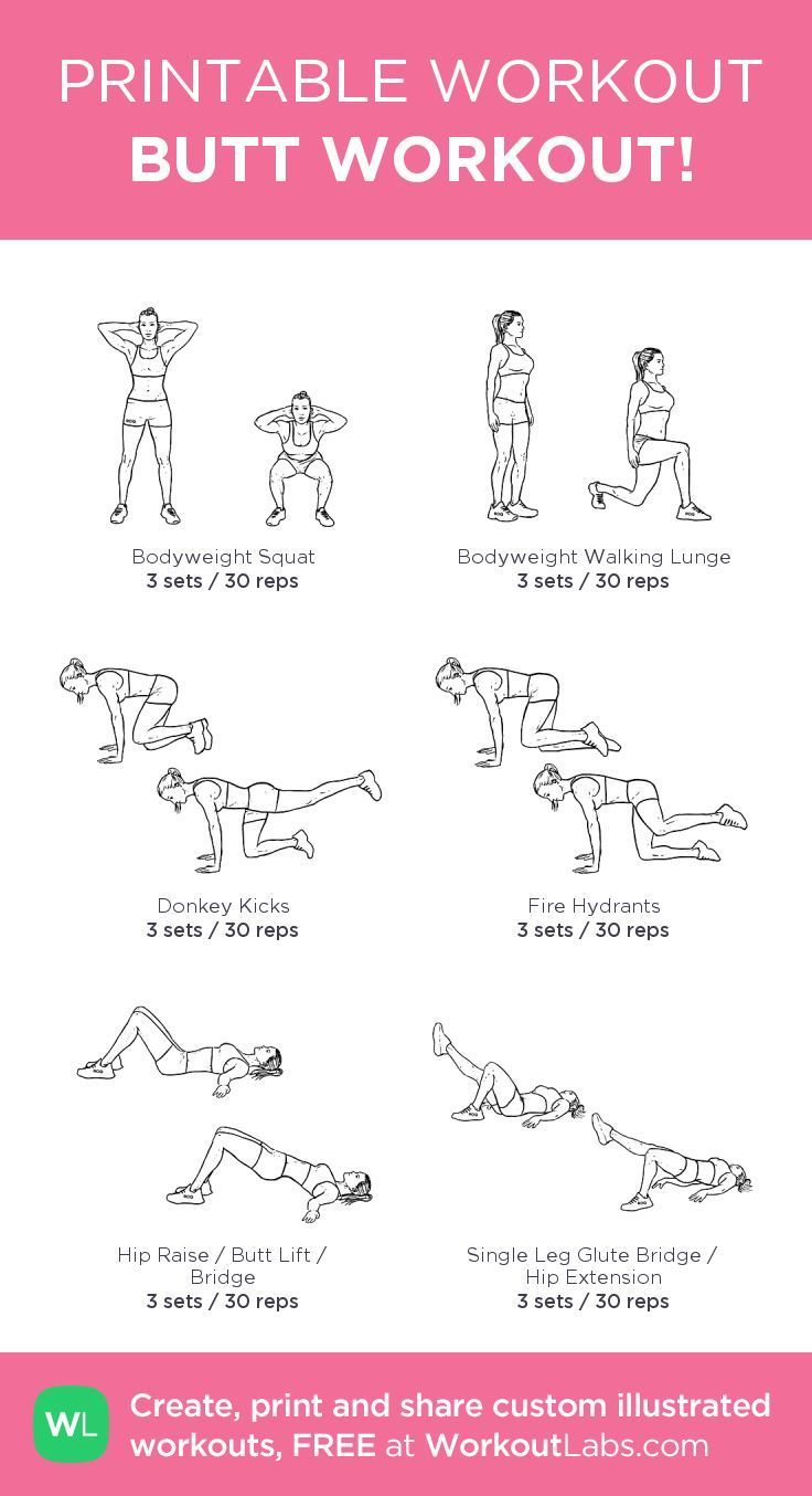 Butt workout. You can decide to use a bar/weights too, if you use weights, cut the reps in half.