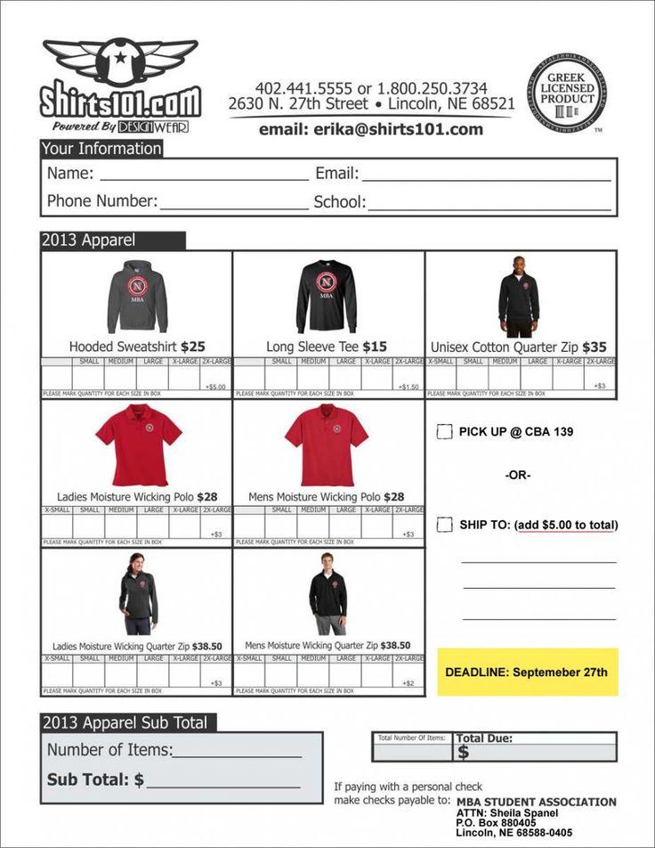88 best Spirit Wear images on Pinterest Spirit wear, Memphis - t shirt order forms