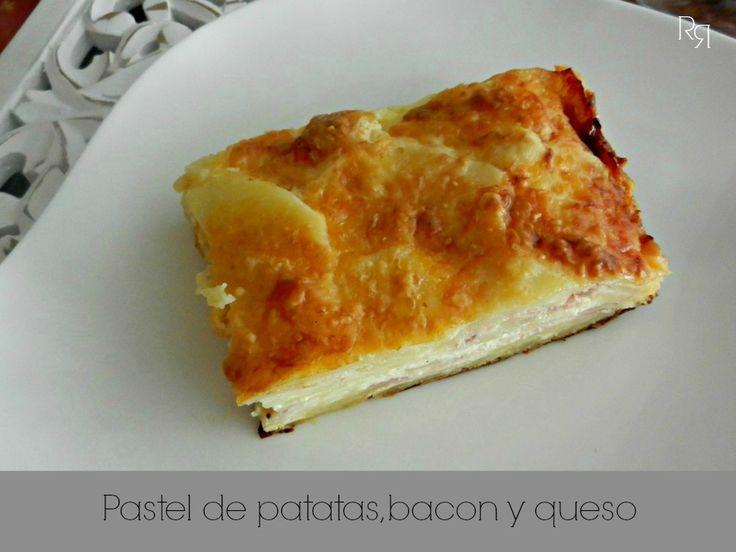 """""""pastel de patatas, bacon y queso"""""""