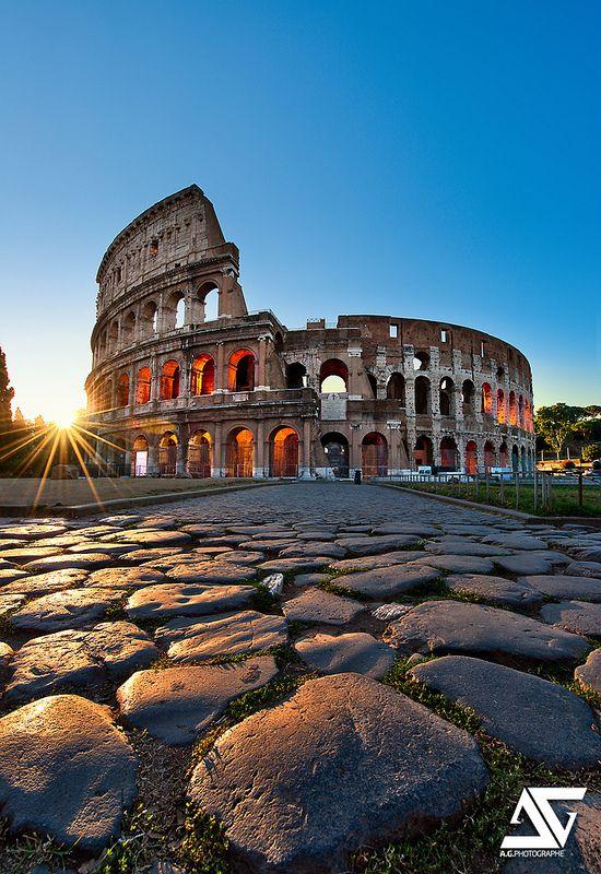 Coliseum  Colisée, Rome, Italie (HDR / DRI)