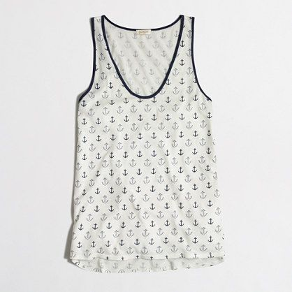 J.Crew Factory - Factory COTTON -MODAL® layering tank in anchor