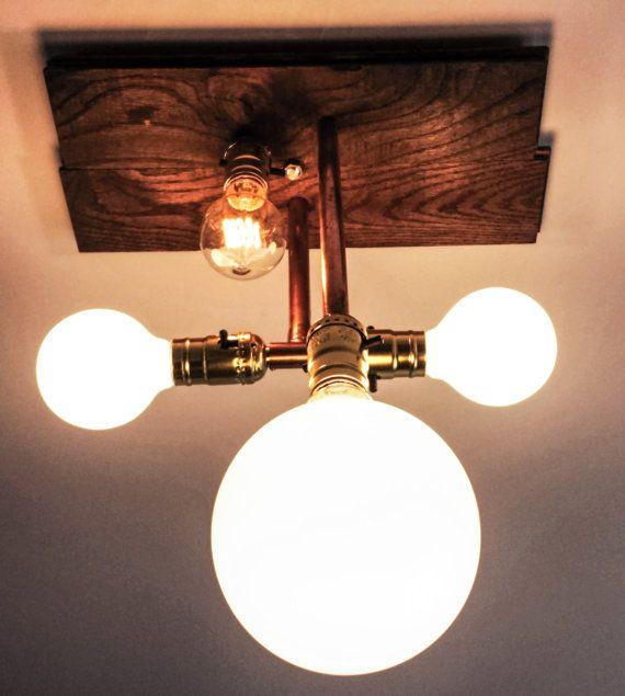 Urban Copper pipe light fixture Tubo Di Rame by LampadinaLighting