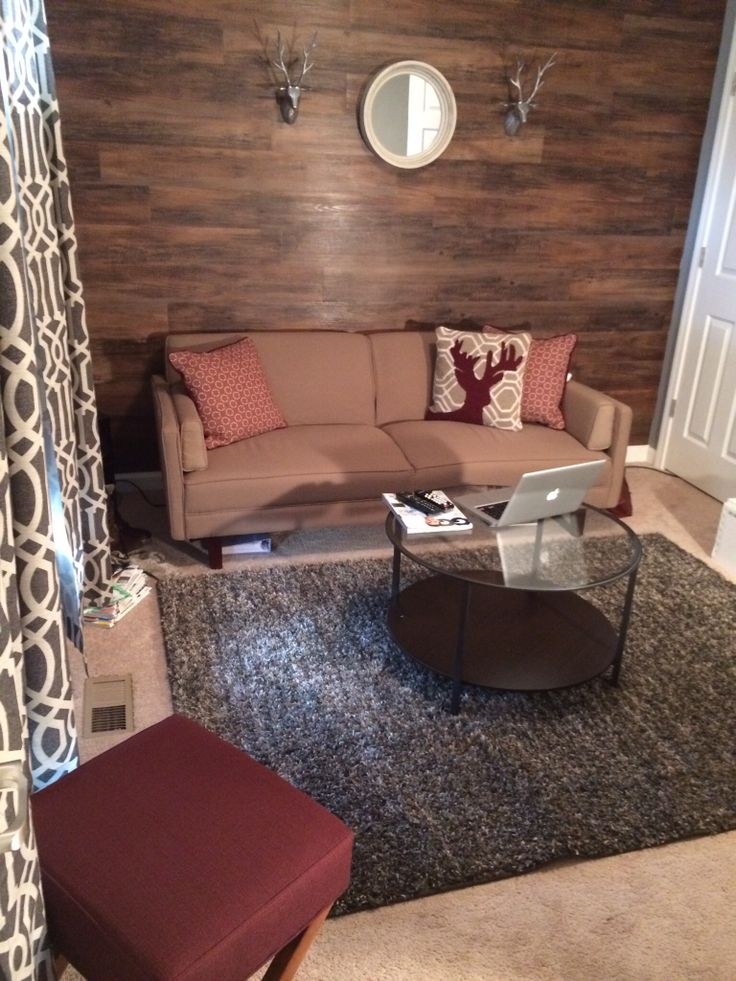 Man Cave Accent Wall : Images about wood accent wall on pinterest house