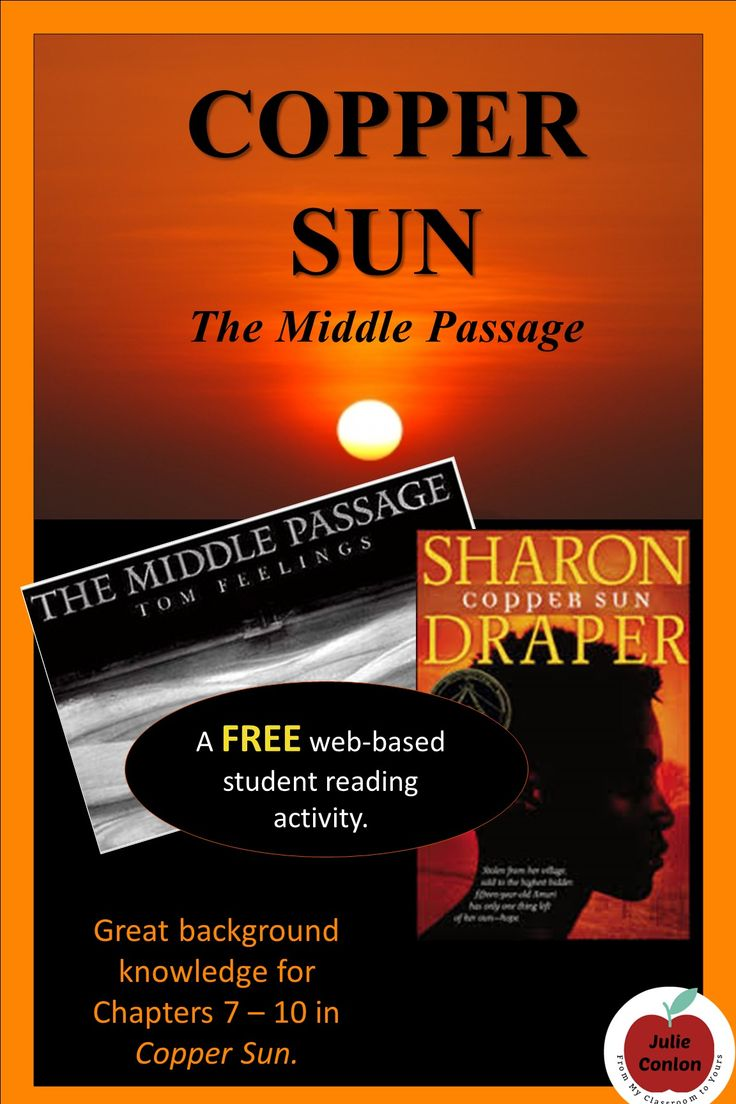 Support your students' understanding of Sharon Draper's Copper Sun with this internet-based activity with solid background-building information and amazing imagery from Tom Feelings' The Middle Passage.
