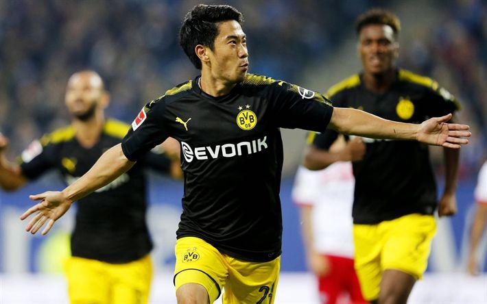 Download wallpapers Shinji Kagawa, football, Borussia Dortmund, Japanese footballer, Germany, Bundesliga