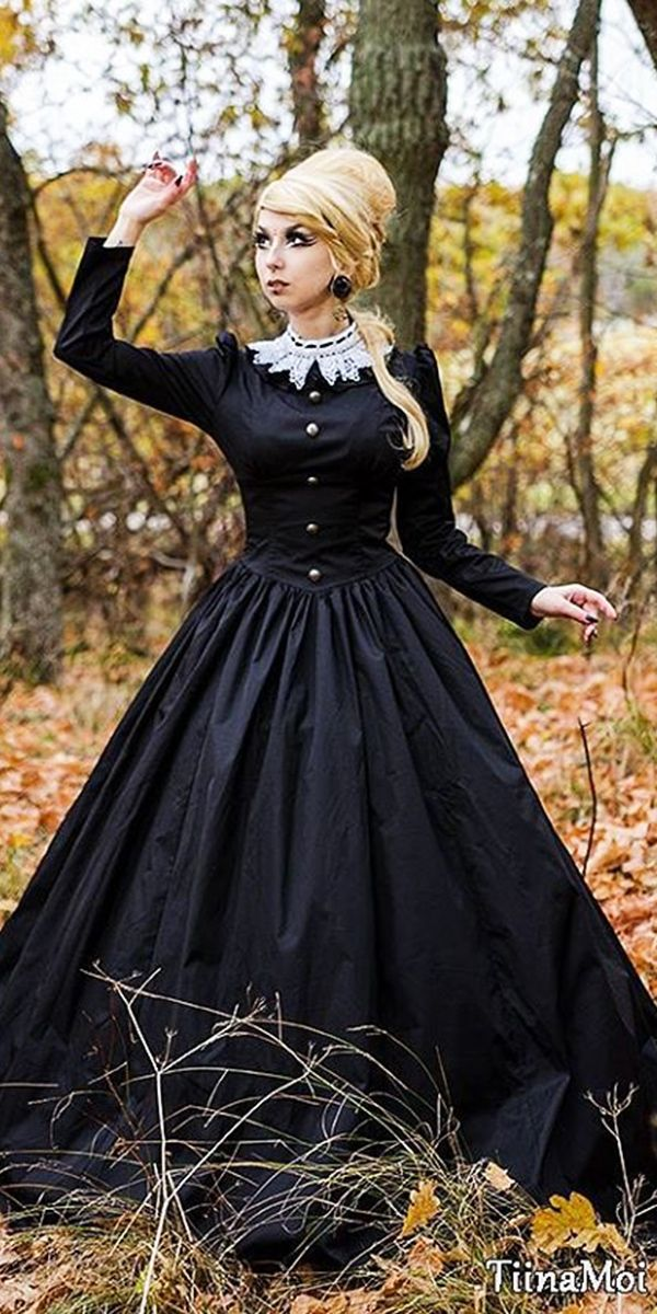 The 609 best black wedding dresses images on pinterest ball 21 gothic wedding dresses challenging traditions junglespirit Image collections