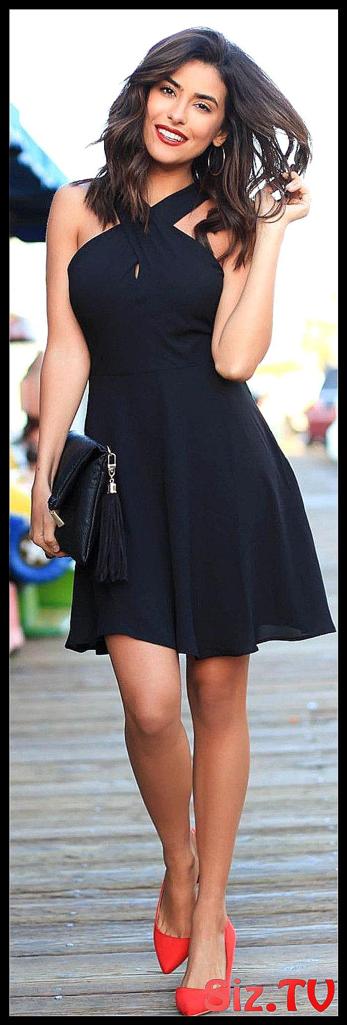 Ein Paar Tolle Ideen Wie Sie Ein Schwarzes Kle Breit Classy Black Dress Shoes Ein Ideen Kleid Kom Black Dress Red Heels Black Dress Black Dress Red Shoes [ 2069 x 700 Pixel ]
