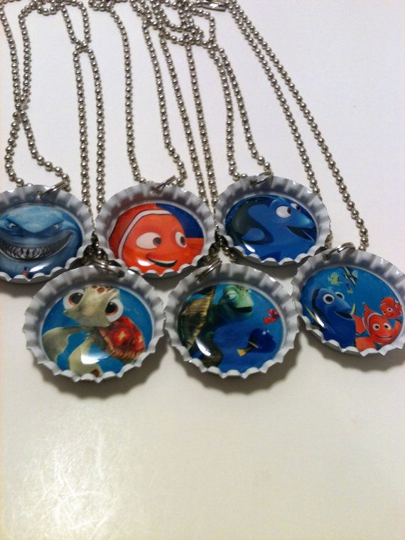 Finding Nemo Party Favor Necklace Pack on Etsy, $20.99