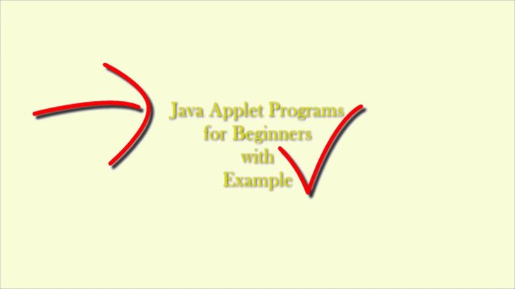 Java Applet Programs for Beginners with Example