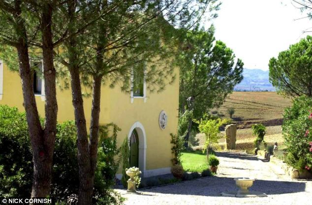 Lady Powell's villa near the town of Palombara Sabina, Italy. It has played hosted to the ...