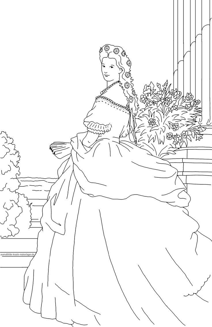 Ausmalbild Prinzessin Sissi Bild von Martin Mißfeldt