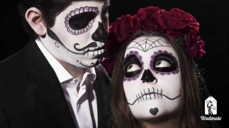 Wudmate: Juntos Para Siempre - Sesión Fotográfica Halloween #Catrina #Skull #Makeup #Backstage #makingof #photography