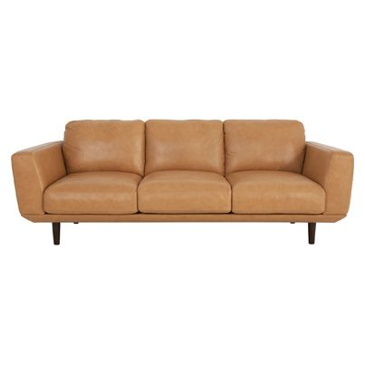 Henry 3 seater sofa in natural leather