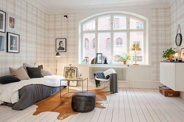 Mitt gröna lilla rum: RUTIG TAPET PÅ ALLA VÄGGAR
