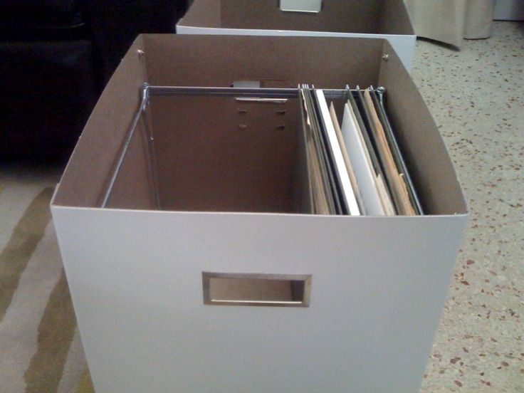 ikea hackers hanging file boxes