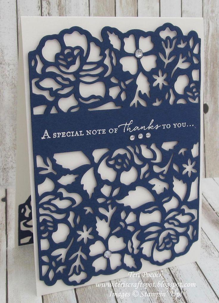Stampin' Up! UK Demonstrator - Teri Pocock: Floral Phrases with Detailed Floral Framelits