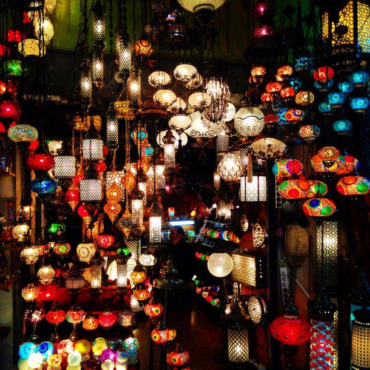 #grand # bazaar #istanbul #lighting #lights #colours #shop
