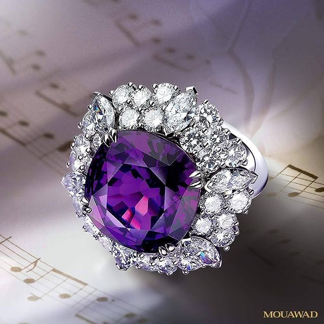 Uniquely beautiful, Mouawad Royal Ring set with diamonds and rare gemstones bring high jewelry to new heights.
