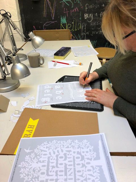 Workshop Diary - 24th February 2018 - Kyleigh's Papercuts