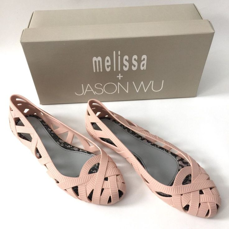 NEW Melissa Jason Wu Jean Light Pink Jelly Flats US 7 Women Saks Nordstrom  #MELISSAJASONWU