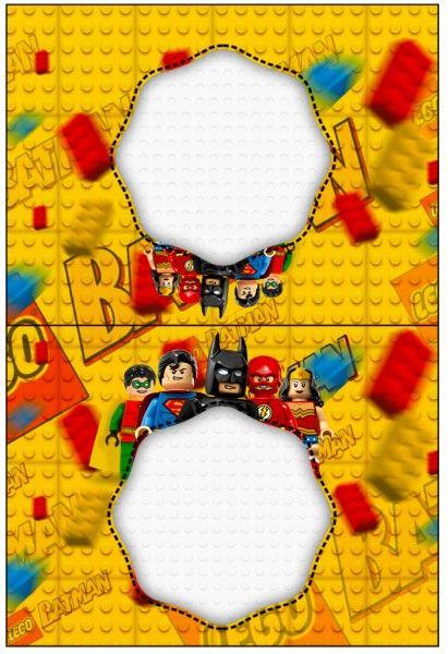 Cartão Agradecimento de Mesa Batman Lego Super Heroes: