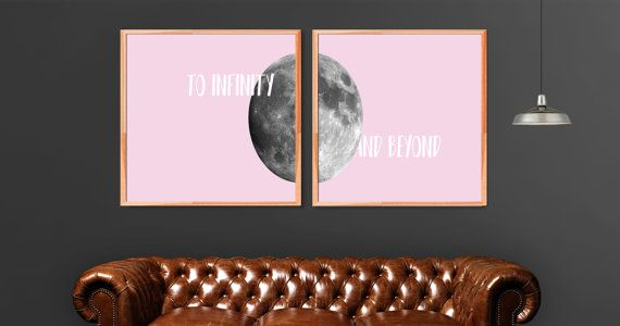 Digital Wall Art Full Moon To Infinity and by WildAtArtDesigns