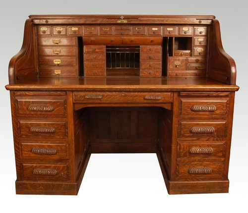 Want similar Oak Roll Top Desk for craft office