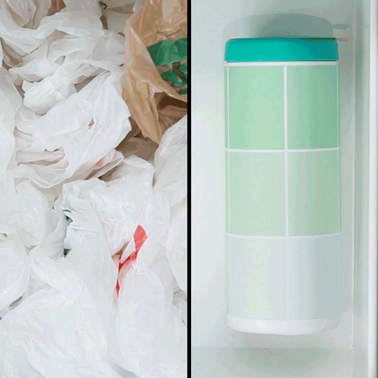 Organize suas sacolas plásticas com esta dica super fácil