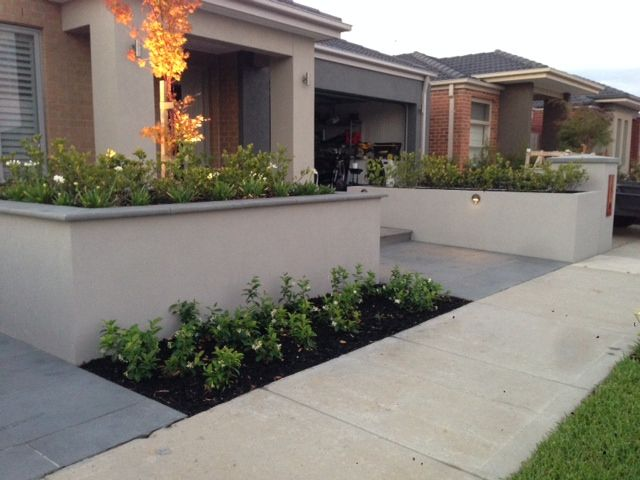 rendered retaining walls - Google Search | Garden- Like's ...