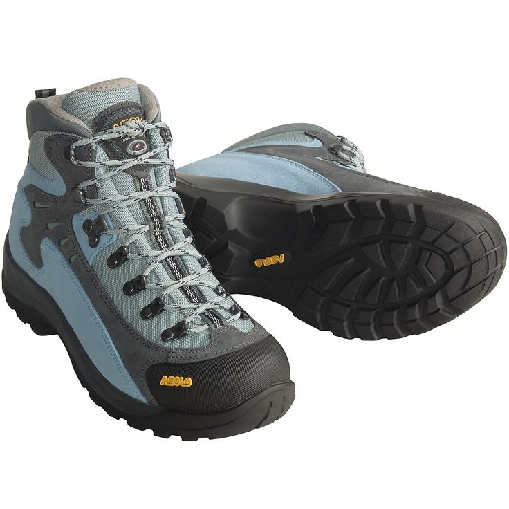 hiking boots for women | Asolo FSN 85 Hiking Boots (For Women) in Graphite/Stratosphere