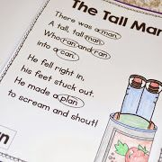 phonics activities first grade, poetry activities first grade, phonics poems, phonics poetry