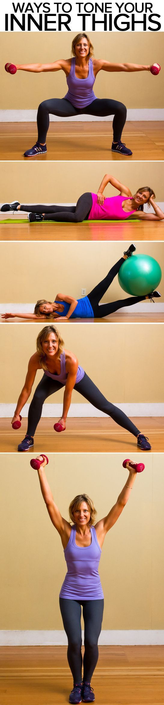 A toned inner thigh is a healthy inner thigh - attractive and strong. Show yours some love with these 18 inner-thigh exercises to get nicely shaped legs Source: www.popsugar.com