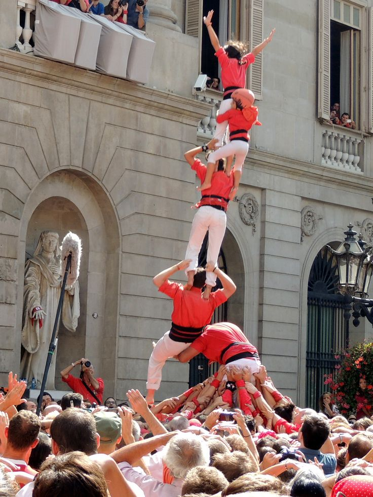#Merce14. Diada Castellera de la Festa Major de Barcelona, Mercè 20014.   Castelllers de Barcelona