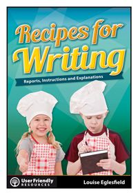 Teacher Louise Eglesfield brings her 20 years of successful writing teaching experience into this brand new release: Recipes for Writing - Reports, Instructions, and Explanations. Packed with great little frameworks this resource will scaffold juniors into experiencing success and confidence in their writing.