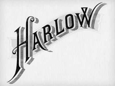 Harlow & Fox  by Jennifer Lucey-Brzoza: Houses Of Harlow, Jennifer Lucey Brzoza, Jennifer Luceybrzoza, Shadows Ideas, H F Logo4, 3D Letters, 3D Types, Harlow Logos, Bazaars