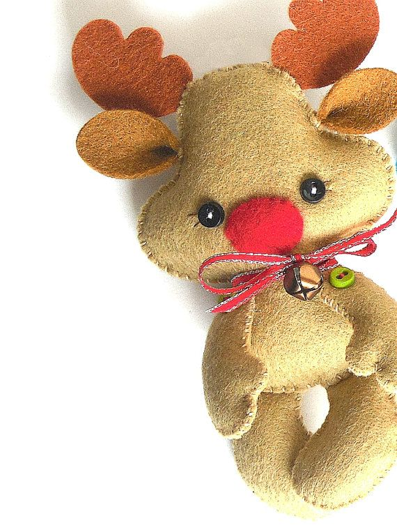 Reindeer Christmas PDF Ornament by LittleThingsToShare on Etsy
