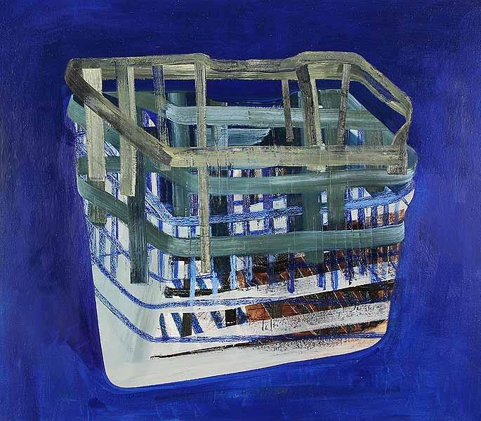 In en In Blauw, Olieverf op linnen, 140 x 160 cm