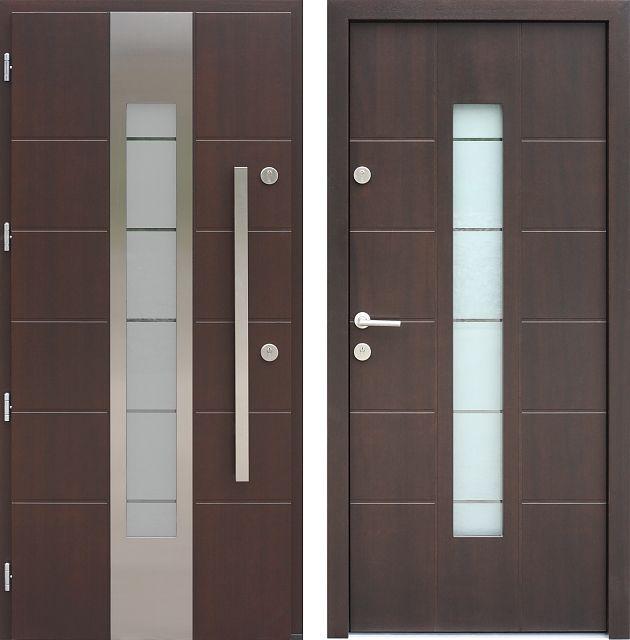 Drzwi wejściowe do domu z katalogu inox wzór 473,1-473,11