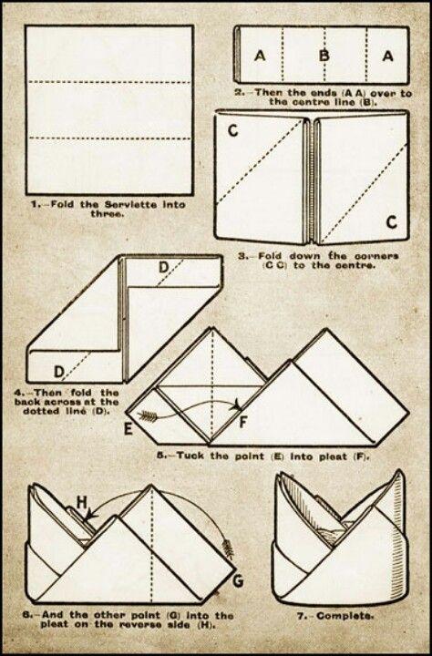 Napkin Folding.  #napkinfold #serviette #decoration de table sur notre site: http://www.feezia.com/