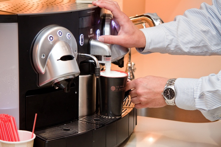 Use our expresso machine to get your morning going!