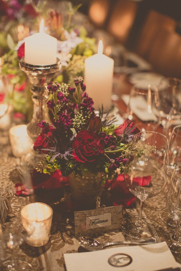 winter wedding centerpieces // photo by Tree of Life Films // http://ruffledblog.com/lake-placid-winter-wedding