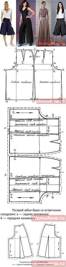 Falda Pantalones Patrón | WomaNew.ru - lecciones de costura!