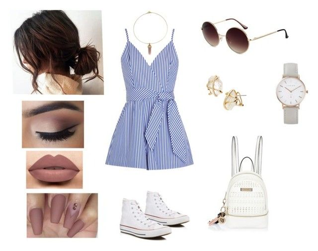 """""""Playful days ✌️"""" by georgia-rose22 on Polyvore featuring Finders Keepers, Converse, Zara Taylor, LASplash, River Island, The Horse and Alexis Bittar"""