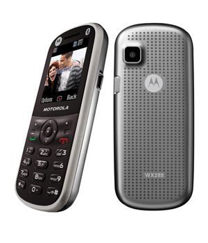 A candy bar shaped mobile phone with Bluetooth wireless technology, Motorola WX288.