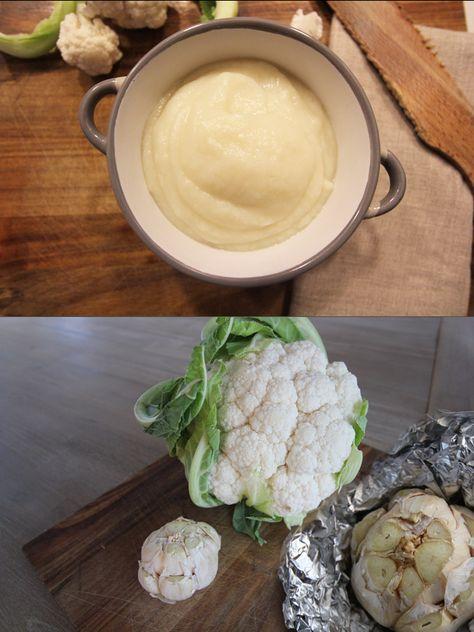 Sauce crémeuse magique - Chou-fleur et ail rôti ! - Creamy cauliflower sauce... Healthy