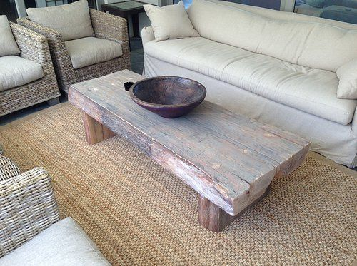 Solid Slab Coffee Table