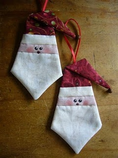 Paper pieced Santa, lots of cute patterns with tutorials on this site.