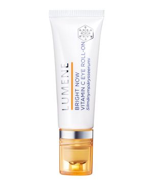6 Ways to Reduce Puffy Eyes Lumene Bright Now Vitamin C Eye Roll-on Panda eyes no more. Formulated with light-reflecting pigments and encapsulated vitamin C, this brightening booster helps to camouflage dark circles upon application and fade them with continued use.  To buy: $20, amazon.com.