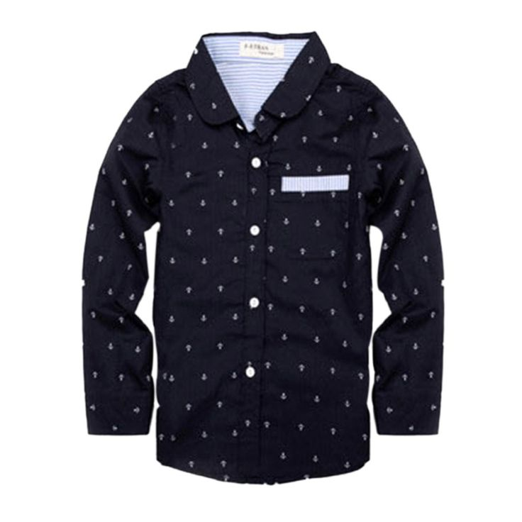 Children Clothes Spring Blouses Boys Tops Children Boys Shirt  Dots Long Sleeves Shirts