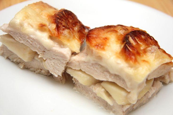 Almás-tejszínes rakott csirkemell recept főfotó